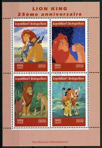 Madagascar-2019-CTO-Rey-Leon-4v-m-s-Leones-Disney-Dibujos-animados-Animacion-sellos