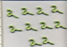 LEGO x 10 Lime Snake, Mini NEW animal reptile light green