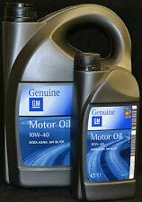 5+1=6  Liter ORIGINAL GM / OPEL 10W40  MOTORÖL 10W-40 A3/B3/B4
