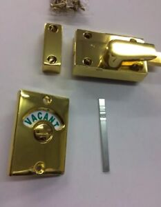 A Nice Heavy Quality Brass Toilet Indicator Bolt Engaged Vacant Lock