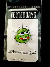 Collectible PEPE PIN, Boy's Club By Matt Furie & Yesterday's, 1.25""