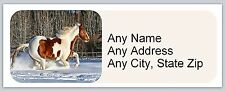 30 Personalized Address Labels Paint Horse Buy 3 get 1 free (ac 659)