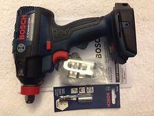 "New Bosch 18V IDH182B Hex Brushless 1/4"" & 1/2"" Socket Ready Impact Driver W Bit"