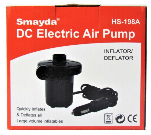 ISO Trade pompe à air électrique 12 V de voiture avec 3 adaptateurs Pompe Camping