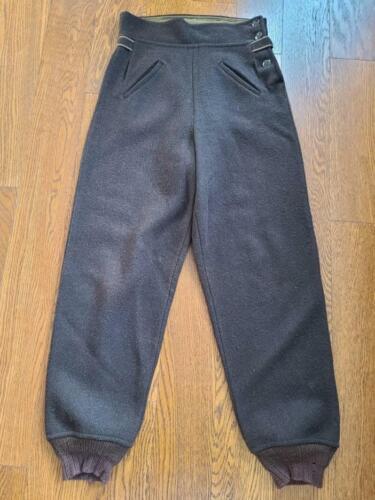 Vintage 1940s Women's Brown Wool Winter Pants Trou