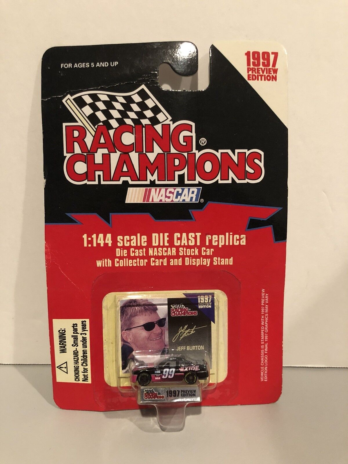 Nascar Racing Champions 1997 Preview Edition 1 144 Jeff Burton Diecast Car NEW