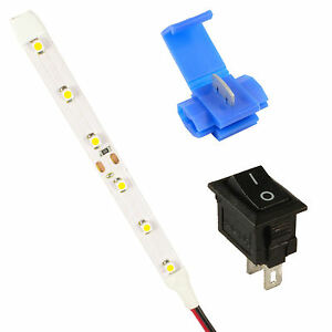 Model-Railway-LED-Strip-Lights-Lamps-Kit-Switch-Connector-All-Colours-12V