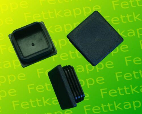 25 lamelles bouchon noir 35x35mm épaisseur de paroi 0,8 à 3,0mm Atera cache