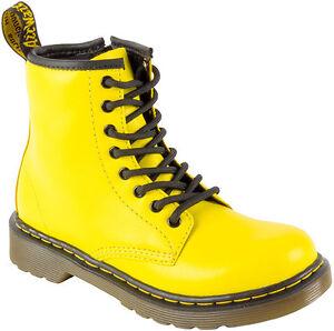 dr martens chaussures pour enfants 8 trous delaney fou jaune 15382739 original ebay. Black Bedroom Furniture Sets. Home Design Ideas
