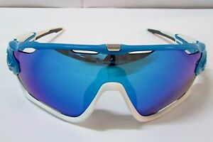 ad5f7c6053 Image is loading OAKLEY-JAWBREAKER-Sunglasses-OO9290-02-Sky-Blue-Sapphire-