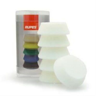 "Delizioso 1.5"" Rupes Ibrid Nano White Ultra Fine Polishing Foam Pad 6 Pack - 40mm Quell Summer Thirst"