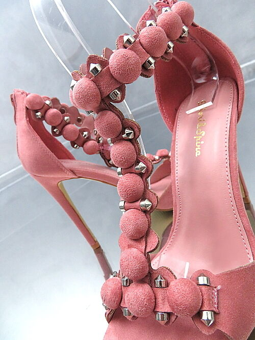 HOHE Pumps Luxus Damen O50 Classic Sandalen Schuhe Rosa High Heels Rosa 38