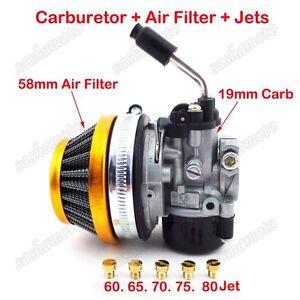 Carburetor Air Filter Carb Jets 49cc 50cc 60 66 80 cc Gas Motorized Bicycle Bike