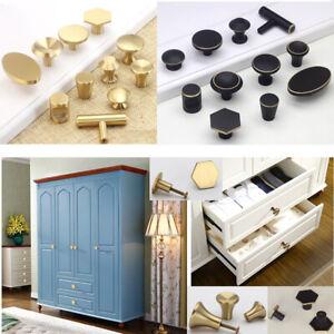 Antique Hexagon Brass Kitchen Cabinet Drawer Knobs Handles Cupboard Door Pulls