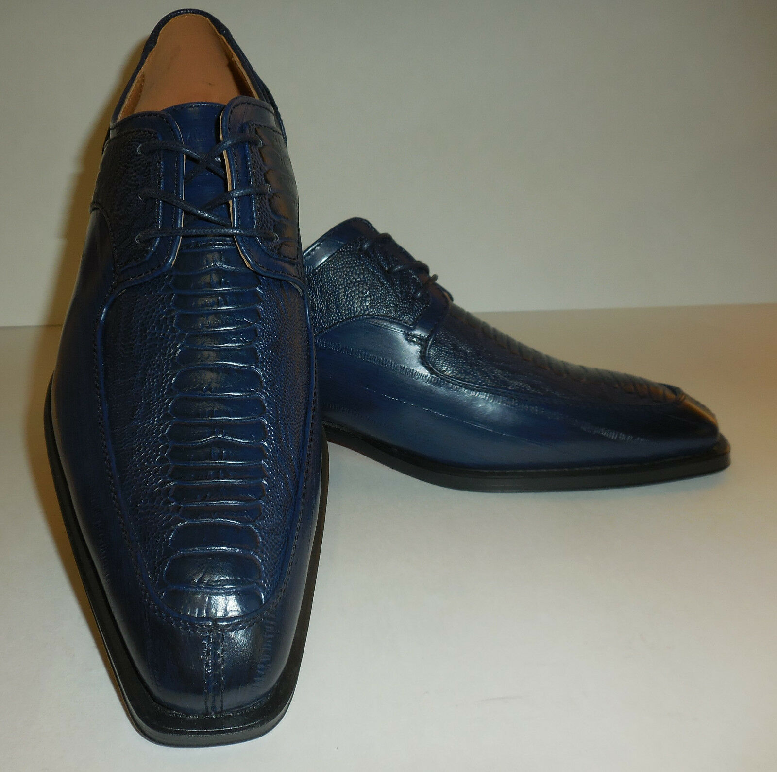 Mens New Edition Antonio Cerrelli Oxford Dress schuhe 6536 Navy Blau Modern Toe