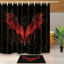 Sculpture Dragon in Malaysia Temple Bathroom Fabric Shower Curtain Set 71Inches