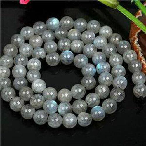 "8mm Natural Labradorite Round Loose Beads 15/"" Chatoyant Crystal Healing"