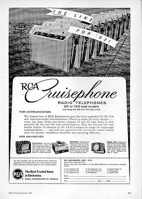 1963 Vintage Ad RCA Cruiserphone Radio Telephones for Boats Camden,NJ