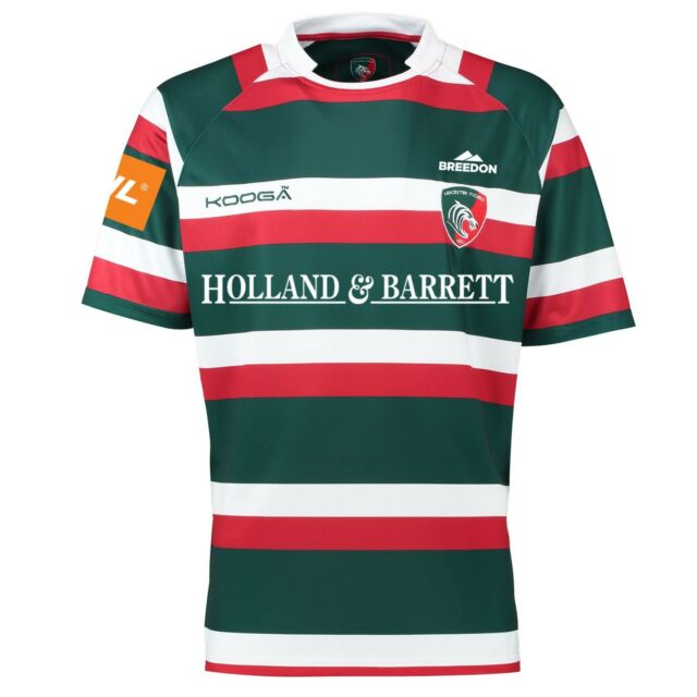 XL LEICESTER TIGERS OFFICIAL KOOGA 2016 - 2017 HOME JERSEY *BNWT*