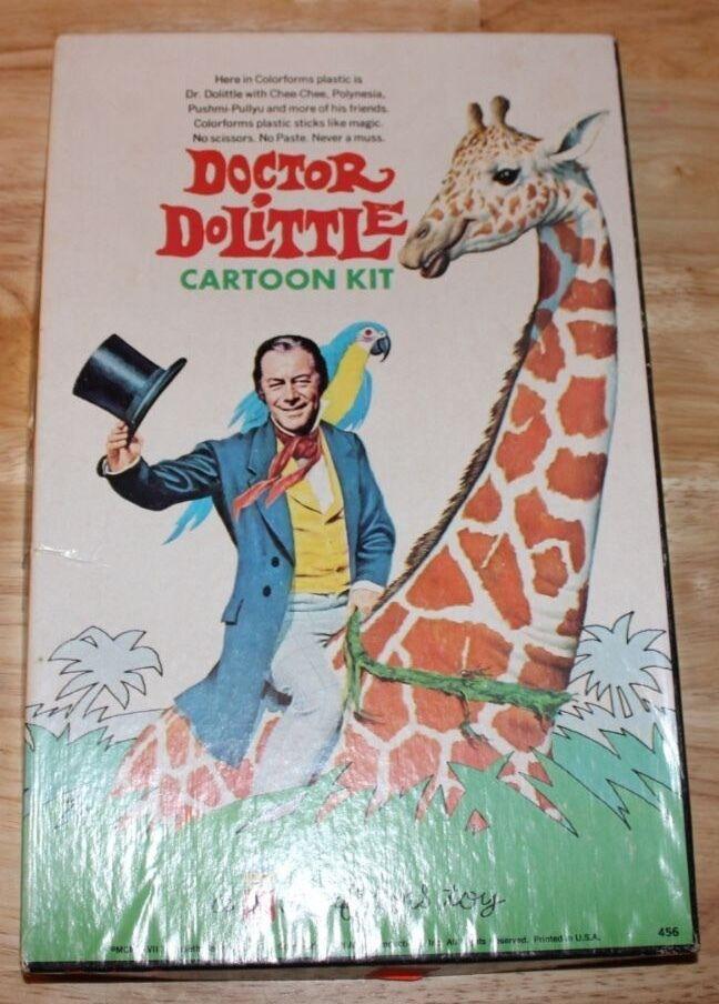 VINTAGE 1967 DOCTOR DOCTOR DOCTOR DR. DOLITTLE COLORFORMS BOX SET COMPLETE W  BOOKLET ATTACHED ba572b