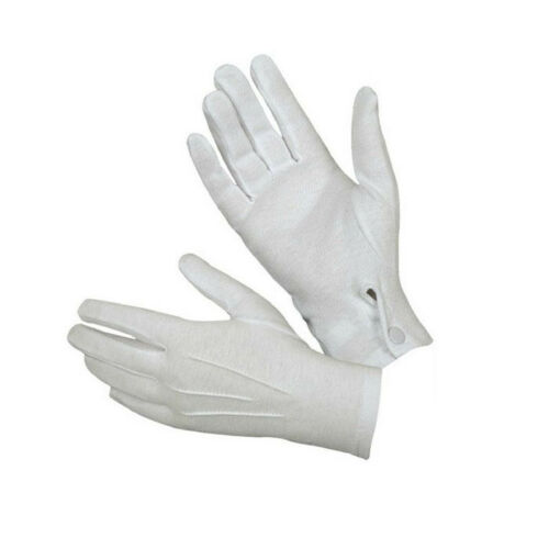 1Pair White Formal Gloves Tuxedo Honor Guard Parade Santa Men Inspection HOT
