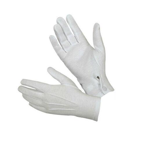 1Pair White Formal Gloves Tuxedo Honor Guard Parade Santa Men Inspection HOT