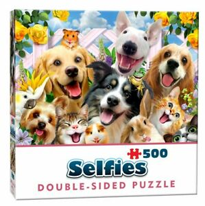 Double-Sided-Selfie-Jigsaw-Puzzle-Buddies-Cute-Dogs-Cats-Pets-Animals-500-Pieces