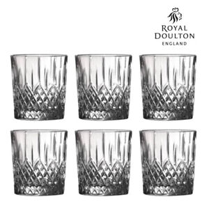 New Royal Doulton Earlswood Crystalline Whiskey Tumbler 275ml | Set of 6