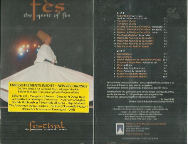 SELTEN / FES ( MAROKKO ) : FESTIVAL FES ( 2 CD ) / NEU VERPACKT - NEU & SEALED