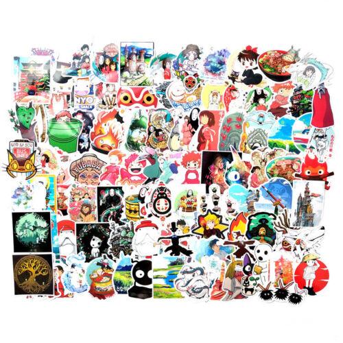 Hayao Miyazaki Anime Vinyl Graffiti Stickers Bomb Laptop Skateboard Decals Pack