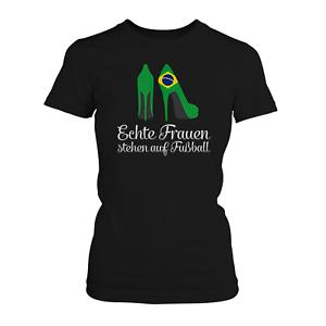 Femmes /& Football T-shirt Femmes Fan Shirt Maillot Coupe du monde Coupe du monde Brésil