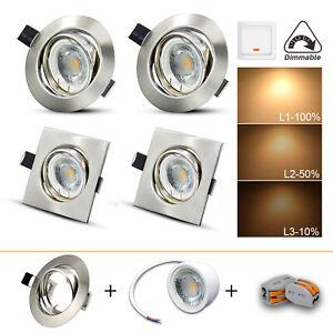 100 Low Energy Mini Brass Recessed Halogen Downlighter Spot Down Light MR16 LED