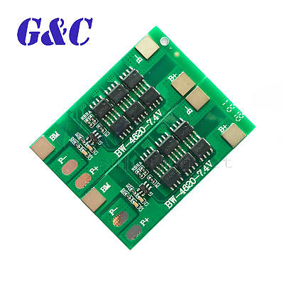 2S 12A 7.4V Li-ion 18650 Lithium Lipo Battery BMS Protection Board PCB