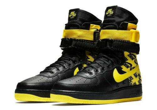 Nike Air Force 1 High SF AF1 Special Field Dynamic Yellow AR1955-001 Mens Shoes