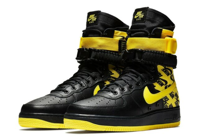 huge discount 248a8 9f6c3 Nike Air Force 1 High SF AF1 Special Field Dynamic Yellow AR1955-001 Mens  Shoes