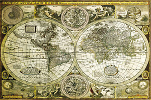 World map historical poster print 36x24 world map ebay image is loading world map historical poster print 36x24 world map gumiabroncs Gallery