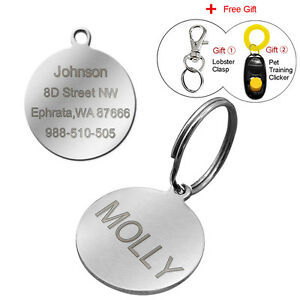 Round-Shape-Personalised-Dog-Tags-Engraved-Cat-Tag-for-Collar-Free-Name-Engraved