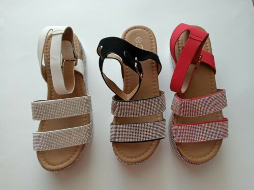 "Women Ankle Strap /""U Pick/"". Details about  /Luxury-43  Platform Sandal Rhinestone"