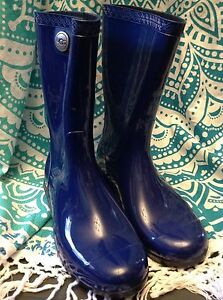 9a96d5f085e Details about UGG WOMEN'S SIENNA RUBBER WATERPROOF RAIN BOOT SHORT ROYAL  BLUE SIZE 6