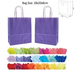 SILVER MATT PARTY GIFT BAGS ~ CHRISTMAS BIRTHDAY PRESENT BAG AND x2 TISSUE PAPER