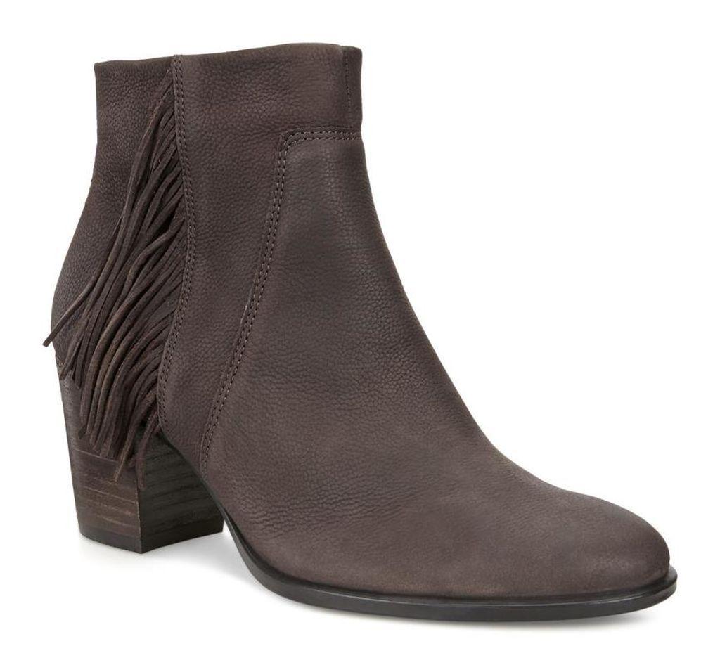 New Ecco ~ Art to Wear ~ Cafe Shape 55 Low Cut Zip Fringe Ankle Boots ~ 40