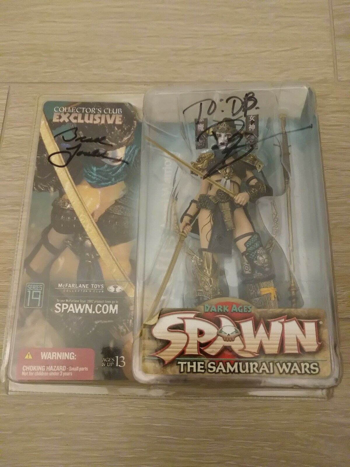 Spawn Collector's Club Exclusive Lotus Angel Angel Angel Warrior McFarlane Toys Rare SIGNED 09fa57