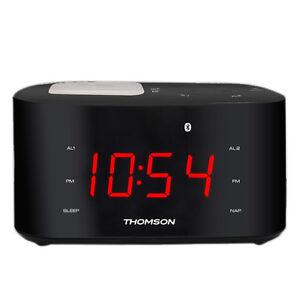new thomson bluetooth digital clock radio btc 2138 usb. Black Bedroom Furniture Sets. Home Design Ideas