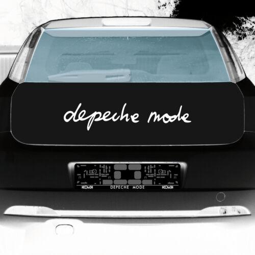 Depeche Mode 60 cm Blanc Logo Autocollant Tatouage Voiture Arrière Vitre Deco diapositive