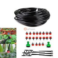 15m/49ft Self Garden Plant Micro Drip Water Irrigation System Sprinkler Hose Kit