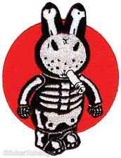 Bone Bunny Embroidered Patch Poster Artist Kozik KP48