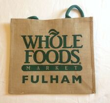 Whole Foods Fulham Broadway London Eco Tote Bag UK Gift Jute Burlap Recycle Shop