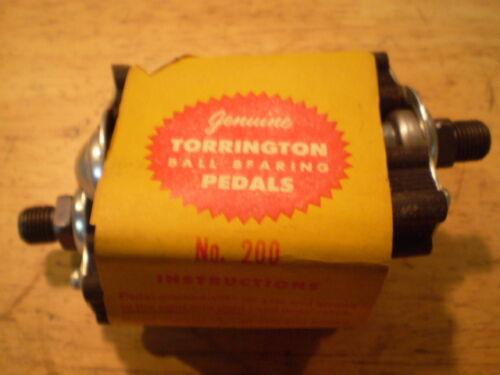 NOS Torrington Junior Bicycle Pedals Fit Schwinn Shelby Monark Higgins Dayton /&