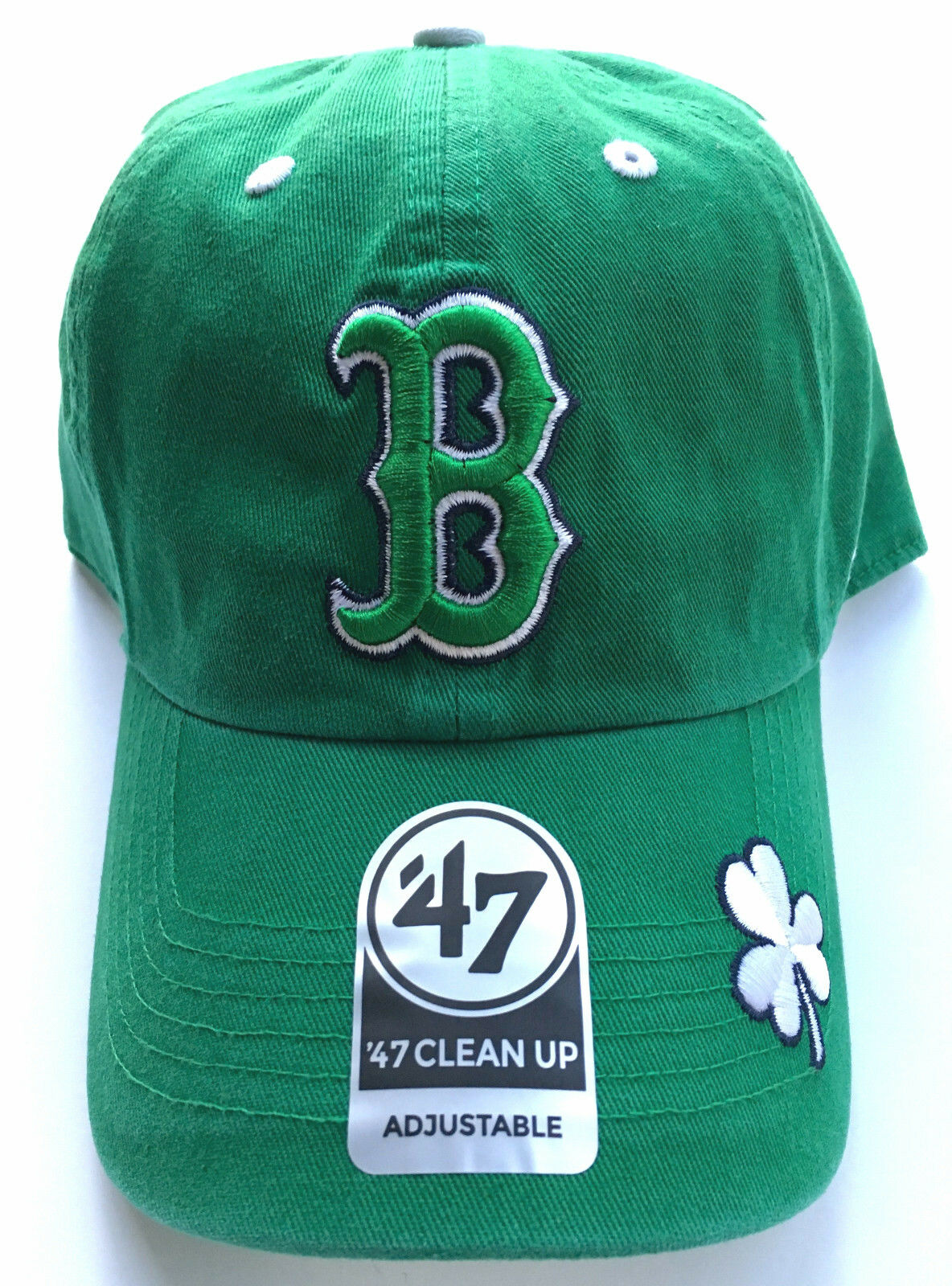 0c2d488c7d503 Details about BOSTON RED SOX OFFICIALLY LICENSED ST PATRICKS DAY KELLY GREEN  SHAMROCK HAT CAP