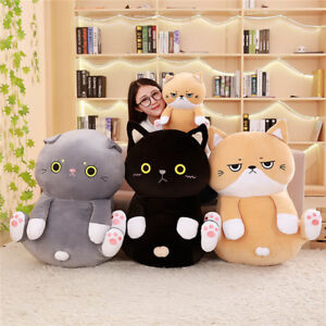 2020-Big-Milkly-Meow-Cat-Soft-Plush-Doll-Pillow-Cushion-Bolsters-Toy-Kid-Gift-uk